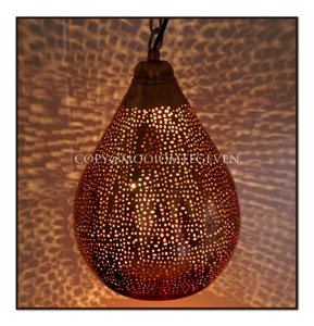 Filigraan hanglamp Bihar koper L