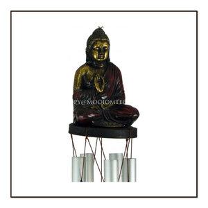 Wind gong boeddha van balsahout